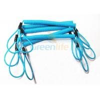 Buy cheap Hot Fashion Peacock Blue Elasticated Spring Tool Tether With Double Loop Ends from wholesalers
