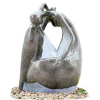 China Fiberglass Resin Garden Fountains Beautiful Lady Marble Color for Garden Decorative wholesale