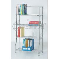 Cheap DIY Metal Chrome Bookcase, Book Rack and Book Shelf , NSF & SGS Approval wholesale
