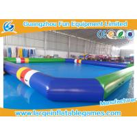 Buy cheap 0.9 MM Pvc Tarpaulin Blue / Green Inflatable Swimming Pools Portable Above Ground from wholesalers