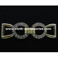Lady Long Slim Metal Buckles , Both Side Metal Shoe  Buckles Without Pin