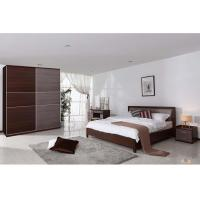 Luxury Hotel Particleboard Melamine Bedroom Furniture With Night Stand
