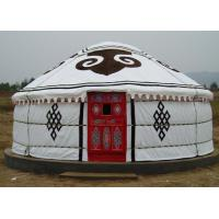 China 5 Person Mongolian Yurt Tent / Canvas Yurt TentWith Three Layer Wrap Cloth wholesale