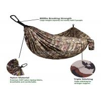 China Portable Lightweight Double Camping Hammock , Camouflage Army Surplus Jungle Hammock Camo wholesale