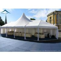 Buy cheap 10m * 20m Hot Sale Aluminium Frame Large Wedding Marquee Mixed Tents With Luxury White Color And Linings Curtain from wholesalers