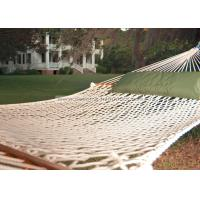 China Lightweight Bright White Soft Spun Polyester Rope Hammock W Stand For Family Leisure Time wholesale