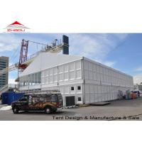 China Large Outdoor Two Story Tent For Party / Exhibition With White PVC Roof Cover wholesale