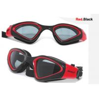 Cheap Red Silicone Professional Swimming Goggles with Adjust Head Strap wholesale