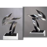 China Customized Modern Stainless Steel Art Sculptures Indoor Decorative Brushed Finishing wholesale