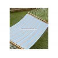 China Weather Resistant Single / Two Person Hammock With Spreader Bar And Stand Ocean Stripe wholesale