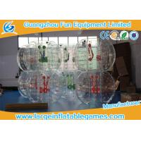 China Clear Soccer Bubble Inflatable Hamster Ball 1.2m / 1.5m Dia For Rental wholesale