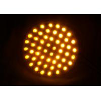 China Dia.100mm Traffic Arrow Boards PC Material UV Proof Solar Powered Warning Lights wholesale