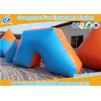 Buy cheap Hot Air Welding Inflatable Sport Games , 0.6mm Plato PVC Blow Up Bunkers from wholesalers