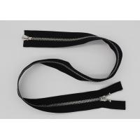 Black 5 Inch Non - Lock Sliders Two Way Metal Zip For Coveralls / Traveling Bag