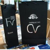 Cheap Black kraft paper Red wine bag 1bottle bag 2bottle bag wholesale