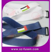 Cheap Plastic Velcro Elastic Hook And Loop Strap / Book Carry Strap OEM , Reusable wholesale