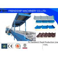 Cheap Colored Steel PU Sandwich Panel Production Line , Roof Panel Roll Forming Machine wholesale