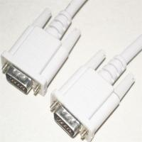 China manufacturer new style Vention VGA cable, white PVC jacket, nickel-plated, RoHS, UL Certificate