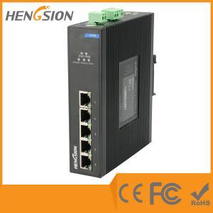 Din Rail Unmanaged Ethernet Gigabit 5 Port Network Switch  1Gbps 0.9Mpps