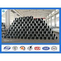 China 40FT 11900mm 3mm Thick Octagonal Galvanized Electric Steel Poles wholesale