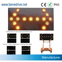 China Directional Traffic Arrow Boards 1000 Meter Visiable With 5 Dia 200mm LED Lights wholesale