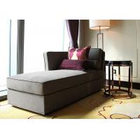Buy cheap Modern Linen Fabric Wooden Lounge Chair , Grey Elegant Chaise Lounge Sofa from wholesalers