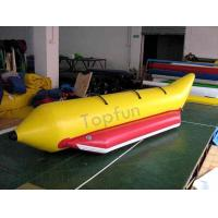 Cheap 3 Persons Use 0.9mm PVC Banana Boat For Amateur Boat Race Or Family Adventure wholesale
