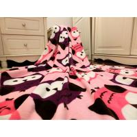 China Warm Colorful Printed Coral Fleece Blanket , Plush Bed Blankets 100% Polyester wholesale