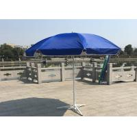 China Outdoor Promotional Custom Printed Patio Umbrellas With Base , Steel Wire Ribs wholesale