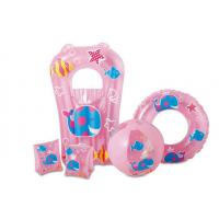 Pink Color Inflatable Armbands Premium Quality Kids Swimming Pool 5 Pieces Set