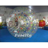 China Color Dots Inflatable Zorb Ball , Grass Zorb Ball , Inflatable Human Hamster Ball Customized for Kids and Adults wholesale
