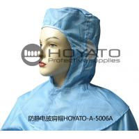 China Germicidal Clean Room Garments Anti Static ESD Shawl Hat With Good Air Tightness wholesale