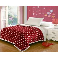 China Double Layers Flannel Throw Blanket Oblong Shape Durable For Keeping Warm wholesale