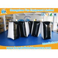 Buy cheap 0.6mm PVC Tarpaulin Black And White Inflatable Blocker For Funny Sport Games from wholesalers