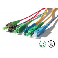 China SM OS2 & MM OM3 OFNR & OFNP Corning Cable Fiber Optic Patch Cord in SC / LC / FC / ST connectors wholesale