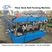 Cheap 26 Forming Steps Floor Deck Roll Forming Machine With PLC Control Panel , 7.5KW Hydraulic Station wholesale