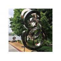 China Spiral Contemporary Garden Decoration Stainless Steel Mirror Sculpture wholesale
