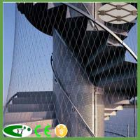 Cheap Safety webnet balustrade with stainless steel wire rope mesh wholesale