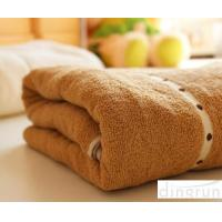 China Thickening / Widened Pure Cotton Bath Towels Brown Colors Various Designs wholesale