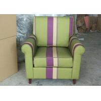 Buy cheap Arm Striped Fabric Upholstered Modern Accent Chair For Living Room Furniture from wholesalers