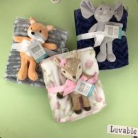 Buy cheap Printed Flannel Swaddle Blanket  Travel High Warmth Retention Children Animal For Home from wholesalers