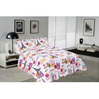 Buy cheap Modern Style Printed Quilt Set With Classic Ticking Printing For Bedrooms from wholesalers