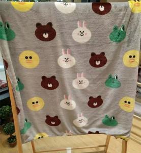 Buy cheap Teddy Bear Cartoon Print Blanket / Animal Print Baby Flannel Blanket Eco Friendly from wholesalers