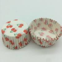 Cherry Pattern Greaseless Cupcake Liners , Muffin Cake Paper Cups For Children Party