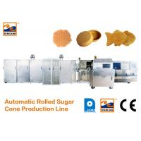 China Eco - Friendly Ice Cream Cone Production Line High Speed 400 Standard Cones / Hour wholesale