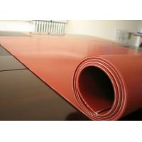 Dark Red Heat Resistant Silicone Rubber Sheet Rolls Reinforced To Insert 1PLY Fabric