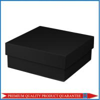 Cheap Square Shape Matte Black Color Paper Gift Packaging Box Chipboard Material wholesale