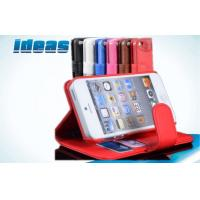 Cheap Hybrid Wallet PU Apple iPhone Leather Case Covers for iPhone 5 , Red wholesale