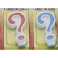 China !Question Mark !White Egde Question Mark Shape Candles  with 2 Colors Filling-in wholesale