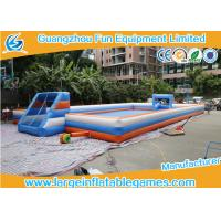 Buy cheap 22 * 11m Inflatable Football Pitch / Giant Inflatable Soccer Field 2 years Warranty from wholesalers